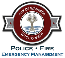 City of Waupaca | Police, Fire and Emergency Management Logo